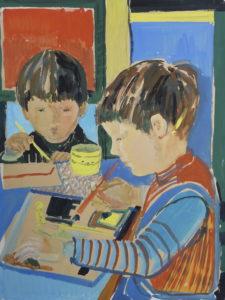 Oliver und Nicki malend